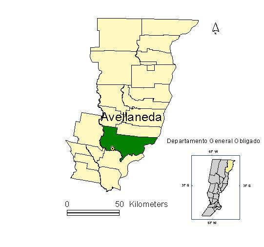 UBICACIÓN DE AVELLANEDA EN EL DPTO.GRAL.OBLIGADO