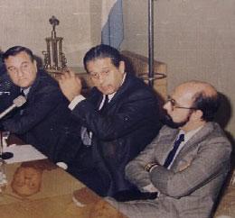 Guillermo Masnatta, René Favaloro y Ricardo Pichel